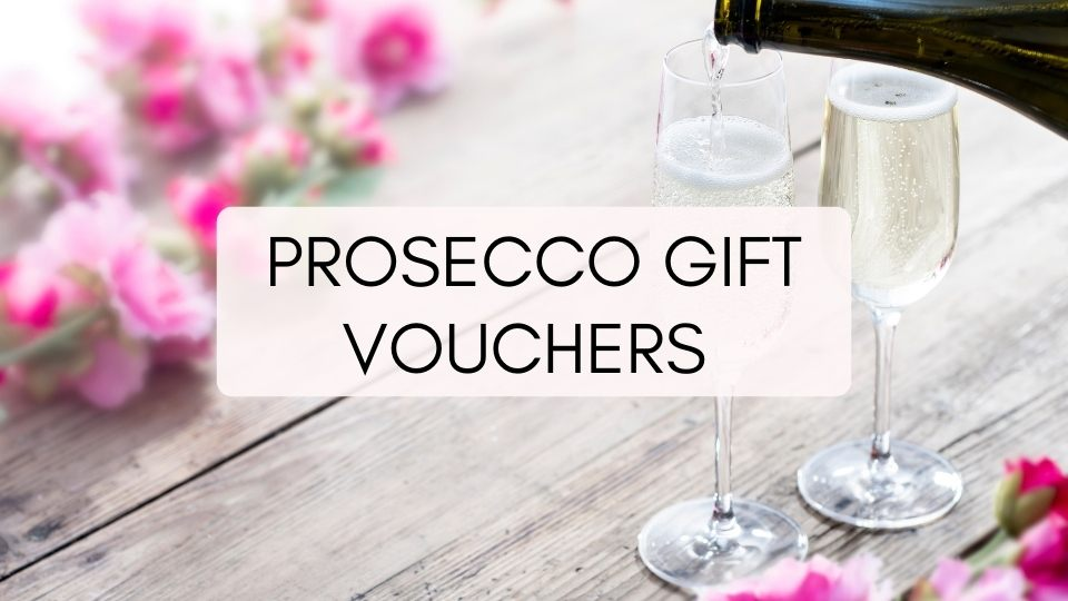 prosecco and pink flowers